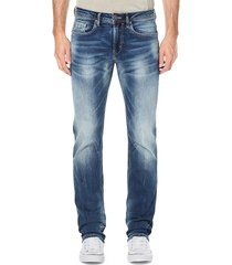 buffalo david bitton men's evan-x silm-straight jeans - indigo - size 28 32
