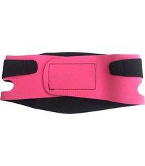 cinta modeladora facial adoraria tira papada rosa - rosa - feminino - dafiti