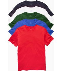 tommy hilfiger men's crew neck undershirt, pack of 5