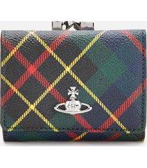 vivienne westwood women's derby small frame wallet - hunting tartan