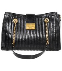 bolsa feminina satchel casual jorge bischoff com corrente preta
