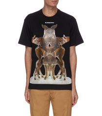 'elthorne' digital deer graphic print cotton t-shirt