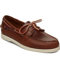 docksides portland waxed båtskor skor brun sebago