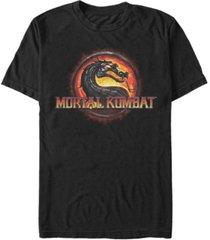 men's mortal kombat 9 kombat fire logo short sleeve t-shirt
