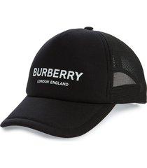 men's burberry logo snapback baseball cap - black