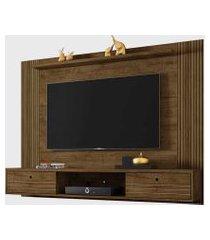 painel ametista para tvs até 65 pol. madeira rústica/3d ripado móveis bechara