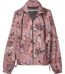 alexander wang watch print track jacket - purple