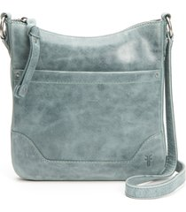 frye melissa swing leather crossbody bag - blue