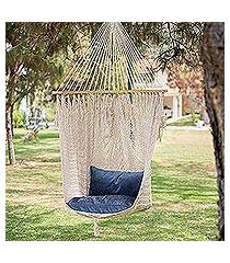 cotton hammock swing, 'sandy beach' (mexico)