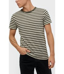 selected homme slhbjorn stripe ss o-neck tee w t-shirts & linnen beetle
