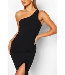 one shoulder maxi dress, navy