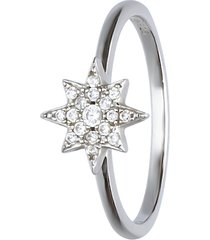 anello stella in argento e zirconi per donna