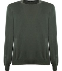 fay green virgin wool sweater