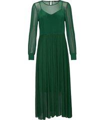thora lucia dress maxi dress galajurk groen bruuns bazaar