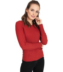 sweater privilege terracota - calce ajustado