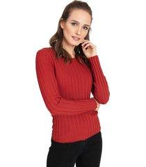 sweater privilege burdeo - calce ajustado