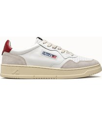 sneakers autry low colore bianco rosso