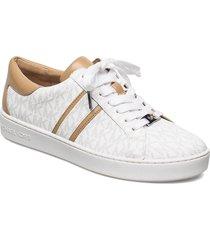 keaton stripe sneaker låga sneakers vit michael kors