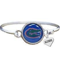 florida gators alumni charm silver cuff bangle bracelet uf
