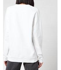 balmain women's printed logo sweatshirt - blanc/rose - m