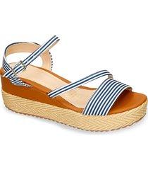 sandalias de plataforma azul bata fidena mujer