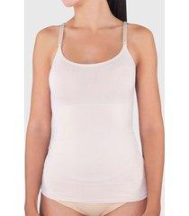 camiseta lady genny control blanco - calce ajustado