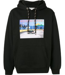 wooyoungmi weekend lovers hoodie - black