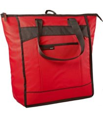 rachael ray chillout thermal tote, insulated bag for grocery shopping entertaining, transport hot and cold food