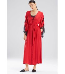 natori l'amour robe, women's, red, size xs natori