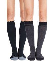 women's belly bandit 2-pack compression socks, size 1 - black