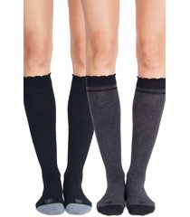 women's belly bandit 2-pack compression socks, size 1 - black