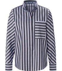 blouse 100% katoen streepdessin van day.like blauw