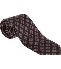 barba napoli beige and blue silk tie