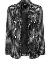 giacca bouclé con frange (nero) - bodyflirt boutique