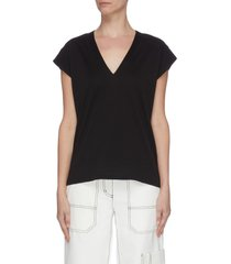 'le mid rise' peak shoulder t-shirt