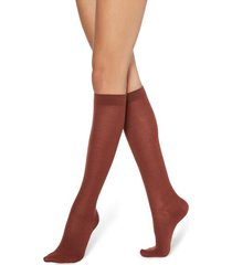 calzedonia tall wool and cotton socks woman red size tu