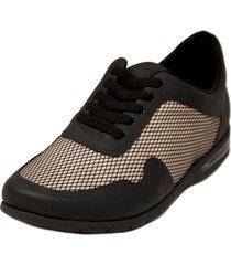zapatilla negra comfortflex