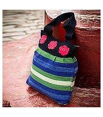 wool shoulder bag, 'andean sky' (peru)