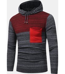 maglione caldo con cappuccio a maniche lunghe con cappuccio a maniche lunghe mens. maglione sottile a maglia sottile