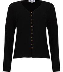 blusa con botones color negro, talla 6