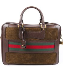 gucci webby suede suitcase