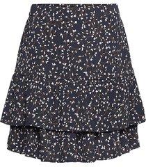 berthe jalina skirt aop kort kjol blå moss copenhagen