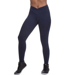 calça legging miss blessed premium transpassada azul escuro
