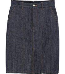 mackintosh dark indigo denim skirt d-wsk001 - blue