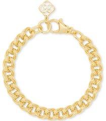 kendra scott pave logo charm chain link bracelet