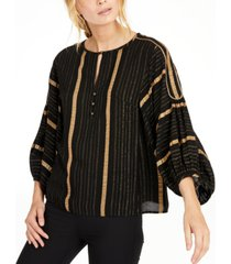 nanette lepore metallic-striped top, created for macy's