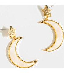 naomi star moon dangle earrings - pale pink