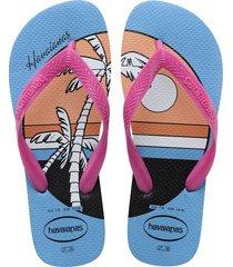 sandalias chanclas havaianas para mujer rosa top vibes