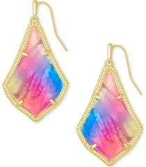kendra scott 14k gold-plated watercolor illusion drop earrings