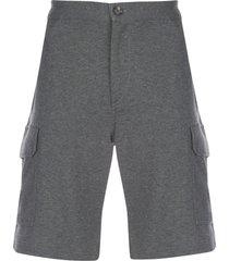 brunello cucinelli straight-leg cargo shorts - grey